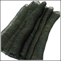 Length Of Wonderful OliveGreen Hemp Kaya With Traces of Natural Fibers