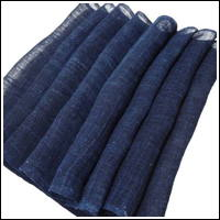 Length Of Old Kaya Indigo Hemp Mosquito Netting