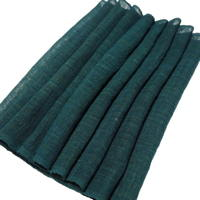 Extra Wide Mixed Hemp  Cotton Emerald Green Indigo Mosquito Netting