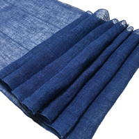 Kaya Length Of Lovely Indigo Hemp Mosquito Netting