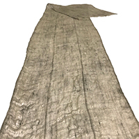Unusual Long Length Of Old Kaya LightGray Hemp  Cotton Mosquito Netting