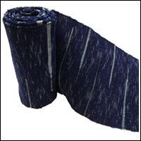 Old Hand Loomed Sakiori Indigo Cotton Obi