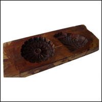 Double Image Kashigata Wooden Sweets Mold Hand Carved