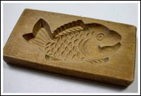 Kigata or Kashigata Wooden Sweets Mold Hand Carved