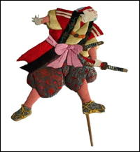 Old Okiage Japanese Kabuki Theater Folk Doll