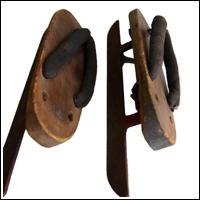 Unusual Antique Hand Crafted Geta Ice Skates